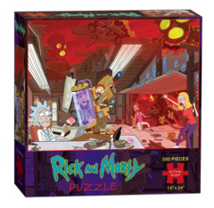 Rick and Morty: 550 Piece Puzzle