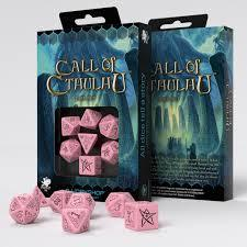 Call of Cthulhu - 7 Dice set - Pink/Black