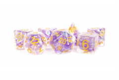 16mm Resin Poly - Pearl Purple w/gold
