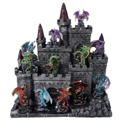 Castle Display with Dragons
