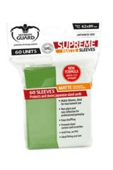 Ultimate Guard (Matte Green) - Small Sleeves