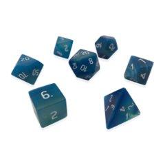 Gemstone: 7 Piece Dice Set - Blue Striped Agate