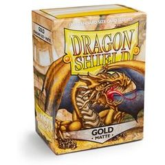 Matte Gold - Standard Boxed Sleeves (Dragon Shield) - 100 ct