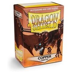 Matte Copper - Standard Boxed Sleeves (Dragon Shield) - 100 ct