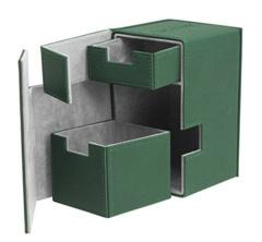 Green Flip'n'Tray Xenoskin Deck Box 100ct (Ultimate Guard)