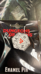 Dungeons & Dragons d20 Enamel Pin