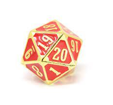 Die Hard - MTG Roll Down/Spin Down Counter - Shiny Gold Ruby