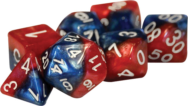 Gate Keeper Dice - Halfsies - Spider Red and Heroic Blue