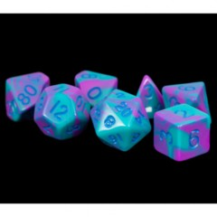 7 Count 16mm - Poly Purple/Teal with Blue Numbers