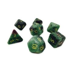 Gemstone: 7 Piece Dice Set - Ruby Zoisite