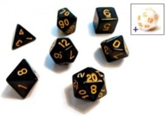 Dice Set Solid Black/Gold