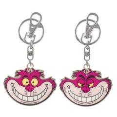 Cheshire Cat Pewter Keychain