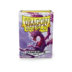 Clear Purple - Standard Boxed Sleeves (Dragon Shield) - 100 ct