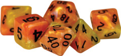 Gate Keeper Dice - Halfsies - Fiery Orange and Phoenix Tail Yellow
