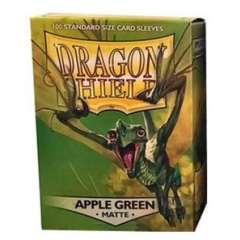 Matte Apple Green - Standard Boxed Sleeves (Dragon Shield) - 100 ct