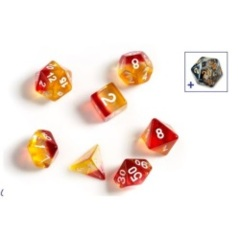 Sirius Dice - Yellow / Red - Translucent Poly