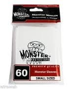 Monster Logo Card Sleeves White Small