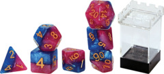 Gate Keeper Dice - Halfsies - The Court Jester - 7 Dice Set