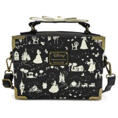 Loungefly x Disney Princess Black & White Multi Princess Box Cross Body Bag