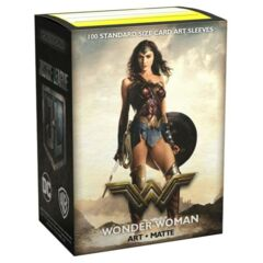 Art Matte Sleeves - Justice League - Wonder Woman - Standard Box Sleeves - 100Ct