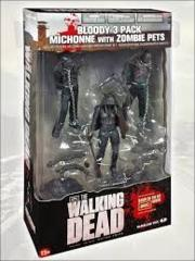 Bloody Black + White Michonne + Pet Zombie (The Walking Dead)