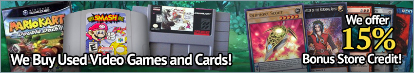 Shop our buylist to sell us used games and cards