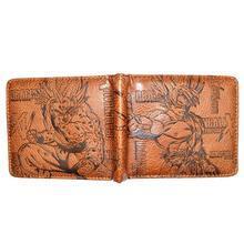 Bi Fold Wallet - Dragon Ball - SS Goku - Brown