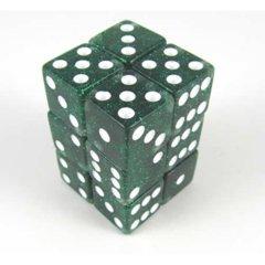Glitter 16mm 12 Piece Set - Green
