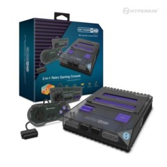 RetroN 2 HD Gaming Console for NES®/ SNES®/ Super Famicom™ (Smoke) - Hyperkin