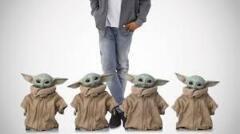 Cardboard Cutout - Baby Yoda 4 Pack