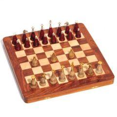 Chess Set: 16x16 Brass with Bone