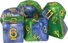 Gate Keeper Dice - Halfsies - Land Green and Sea Blue