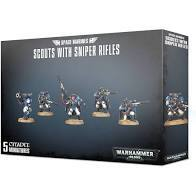 Space Marine Scout with Sniper Rifles