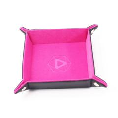 Dice Tray - Folding - Pink