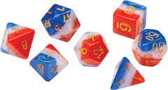 Sirius Dice - Blue - Red, White, and Blue Semi-Transparent