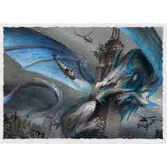 Art Matte Sleeves - Empire State Dragon - Standard Box Sleeves - 100ct