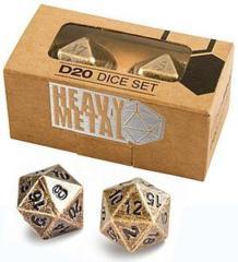 HEAVY METAL D20 Dice Set: Antique Finish (Ultra Pro)
