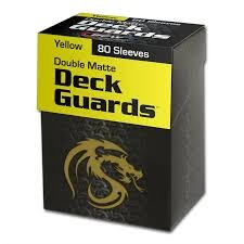 Yellow - Deck Guard Double Matte Sleeves (BCW)