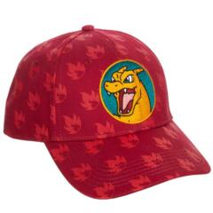 Charizard All Over Print Red Snapback Cap