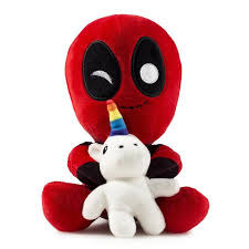 Deadpool with Unicorn - Vibrating Plushie