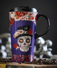 Ceramic Travel Mug - Day of the Dead - Purple
