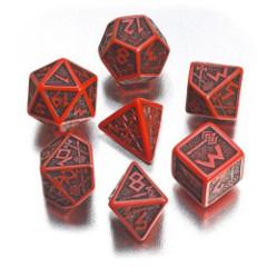 Dwarven Red-Black (Q-Workshop) - 7 Die Set