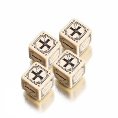 Beige / Black Ancient D6 - (Q-Workshop)