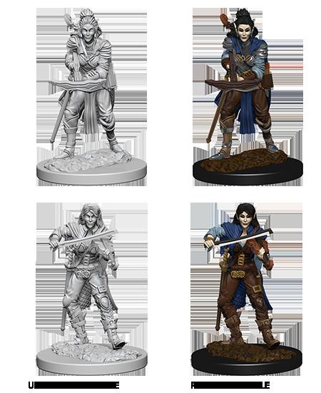 elf female bard pathfinder deep cuts unpainted miniatures