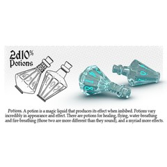 Ethereal Ice - Burning Blue - 2D10% Potions (PolyHero Dice) - Level Up Pack