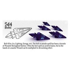 Violet Storm - Lightning - 5d4 Bolts (PolyHero Dice) - Level Up Pack