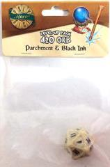 Parchment - Black Ink - 1d20 Orb (PolyHero Dice) - Level Up Pack