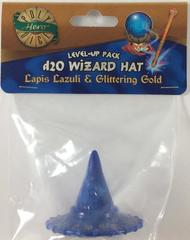 Lapis Lazuli - Glittering Gold  - 1d20 Wizard Hat (PolyHero Dice) - Level Up Pack