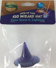 Violet Storm - Lightning - Wizard Hat (PolyHero Dice) - Level Up Pack