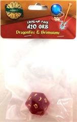 Dragonfire - Brimstone - 1d20 Orb (PolyHero Dice) - Level Up Pack